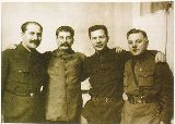Stalin and his team of architects who created the Moscow Metro Station